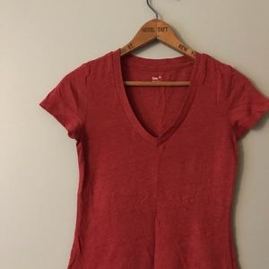 GAP Red Soft V Neck Staple Shirt FREE IN BUNDLE